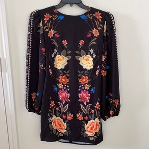 NWT CBR dress floral print with back open
